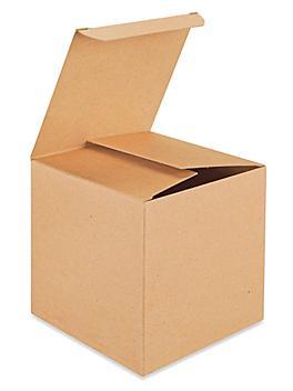 "Reverse Tuck Cartons - Kraft, 5 x 5 x 5"" S-8395"
