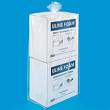 """22 x 16 x 59"""" 2 Mil Gusseted Poly Bags S-8497"""