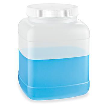 Square Wide-Mouth Plastic Jars Bulk Pack - 1 Gallon S-8509B