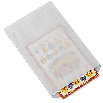 "Merchandise Bags - 6 1/4 x 9 1/4"", #6, White S-8540"