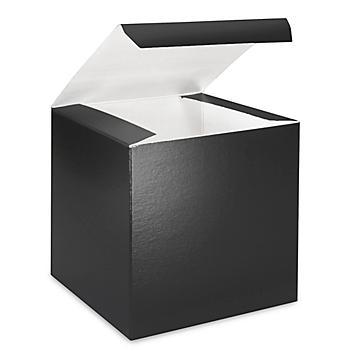 "Gift Boxes - 6 x 6 x 6"", Black Gloss S-8555"