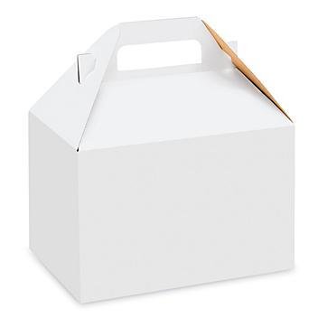 """Gable Boxes - 8 x 4 7/8 x 5 1/4"""", White S-8568"""