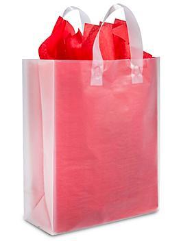 """Clear Frosty Shopper Bags - 10 x 5 x 13"""", Debbie S-8578C"""