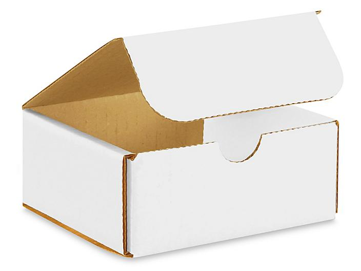 """6 x 2 1/2 x 2 3/8"""" White Indestructo Mailers S-959"""