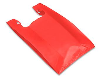 """T-Shirt Bags - 12 x 7 x 22"""", Red S-9690R"""