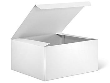 "Gift Boxes - 8 x 8 x 4"", White Gloss S-9693"