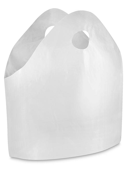 """Gusseted Take Out Bags - 1.4 Mil, 21 x 18 x 10"""", White S-9701"""