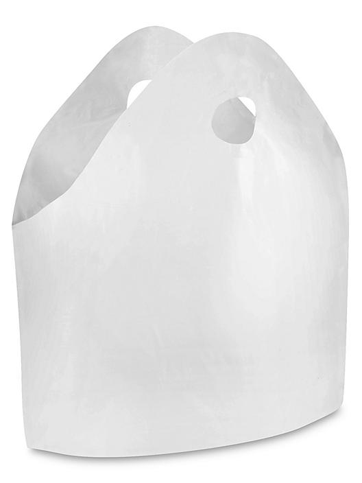 """Gusseted Take Out Bags - 1.5 Mil, 24 x 20 x 11"""", White S-9702"""