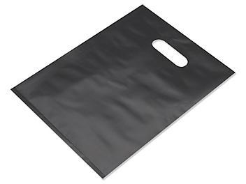 "Frosty Merchandise Bags - 9 x 12"", Black S-9709BL"