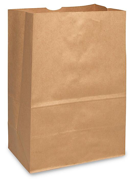 "Paper Grocery Bags - 12 x 7 x 17"", 1/6 Barrel, Kraft S-9751"