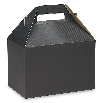 "Gable Boxes - 8 x 4 7/8 x 5 1/4"", Black S-9798BL"
