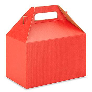 """Gable Boxes - 8 x 4 7/8 x 5 1/4"""", Red S-9798R"""
