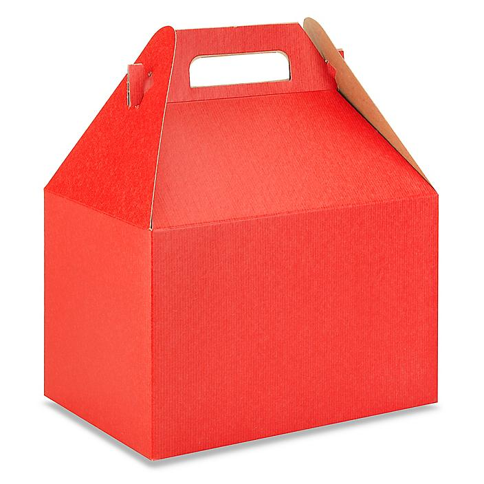 """Gable Boxes - 9 x 6 x 6"""", Red S-9799R"""