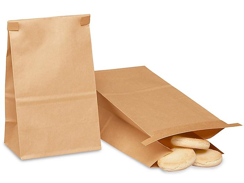"Bakery Bags - Plain Front, 4 3/4 x 3 1/4 x 9"", Kraft S-9801"
