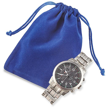"Velvet Pouches - 4 x 5 1/2"", Blue S-9830BLU"