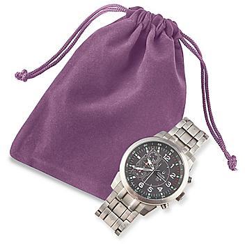 """Velvet Pouches - 4 x 5 1/2"""", Purple S-9830PUR"""