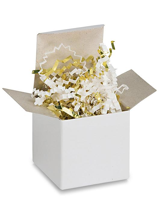 Crinkle Paper - 10 lb, Metallic Blend, Gold and White S-9834G/W