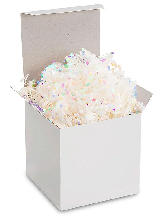 Crinkle Paper - 10 lb, Metallic Blend, Iridescent and White S-9834W/IR