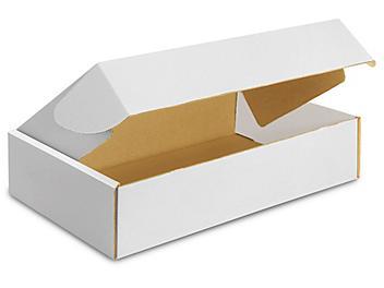 """17 1/4 x 11 1/4 x 4"""" White Tab Locking Literature Mailers S-9846"""