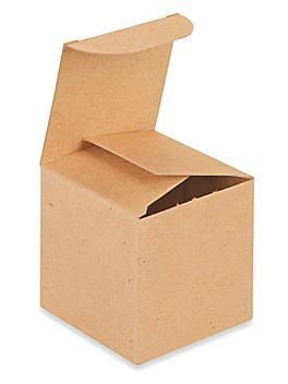 "Reverse Tuck Cartons - Kraft, 2 x 2 x 2"" S-9887"