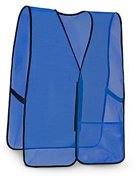 General Purpose Hi-Vis Safety Vest - Non-Reflective, Blue, 2XL/3XL S-9912BLU-XX
