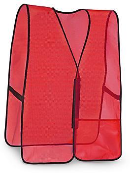 General Purpose Hi-Vis Safety Vest - Non-Reflective, Red, 2XL/3XL S-9912R-XX