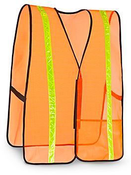 General Purpose Hi-Vis Safety Vest - Reflective, Orange, S/XL S-9913O-M