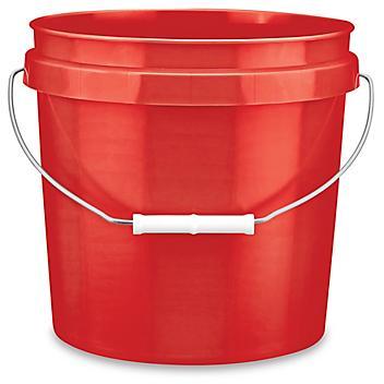Plastic Pail - 2 Gallon, Red S-9941R