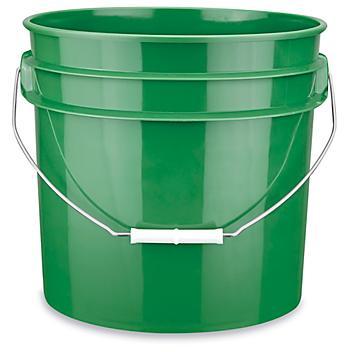Plastic Pail - 3.5 Gallon, Green S-9942GR