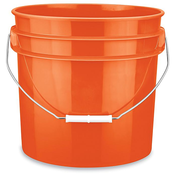 Plastic Pail - 3.5 Gallon, Orange S-9942O