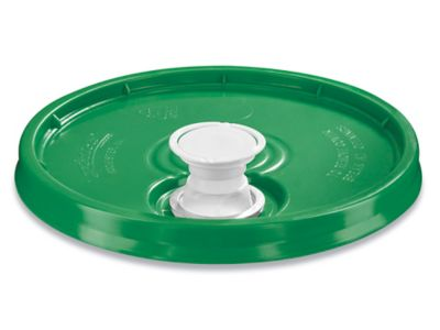 Lid with Spout for 3.5, 5, 6 and 7 Gallon Plastic Pail - Green
