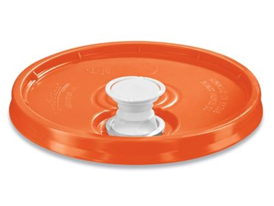 Lid with Spout for 3.5, 5, 6 and 7 Gallon Plastic Pail - Orange