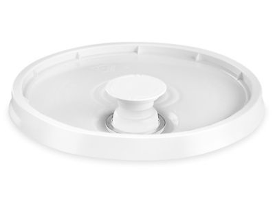 Lid with Spout for 3.5, 5, 6 and 7 Gallon Plastic Pail - White