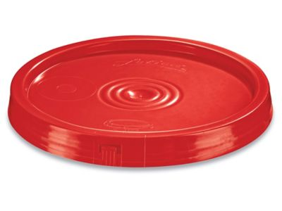Standard Lid for 2 Gallon Plastic Pail - Red