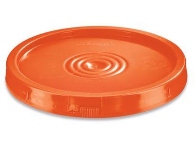 Standard Lid for 3.5, 5, 6 and 7 Gallon Plastic Pail - Orange