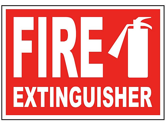 """""""Fire Extinguisher"""" Sign"""