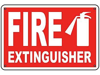 """Fire Extinguisher"" Sign - Aluminum S-9960A"
