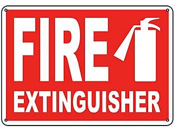 """Fire Extinguisher"" Sign - Plastic S-9960P"