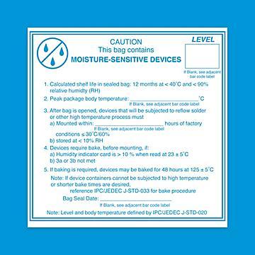 Moisture Sensitive Label