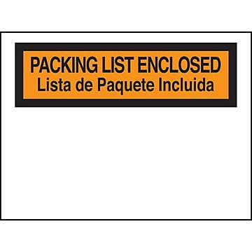 Enveloppes de bordereau d'expédition en espagnol