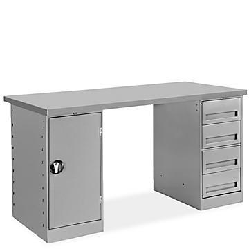 Mesas de Trabajo con Pedestal