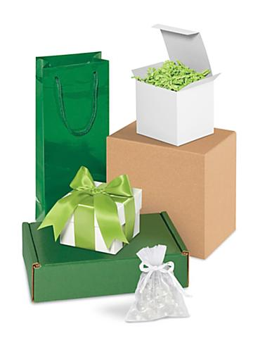 Green Gift Boxes and Bags