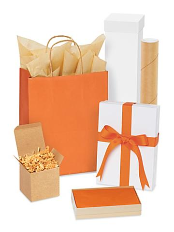 Orange Gift Boxes and Bags