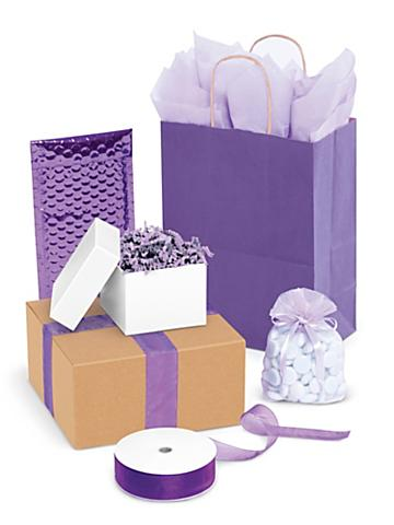 Purple Gift Boxes and Bags