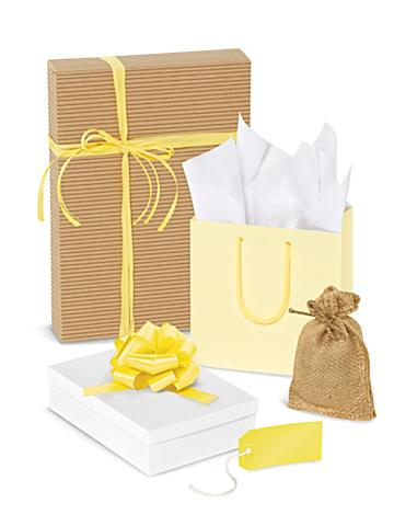 Yellow Gift Boxes and Bags