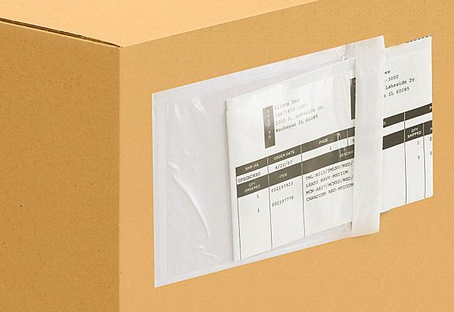 Enveloppes de bordereau d'expédition transparentes