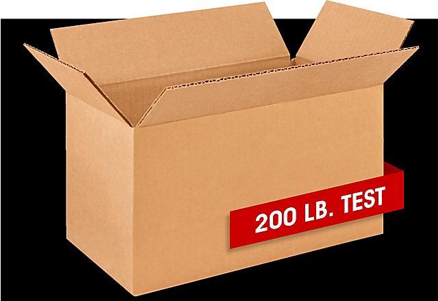Boîtes de carton ondulé – Testé pour 200 lb
