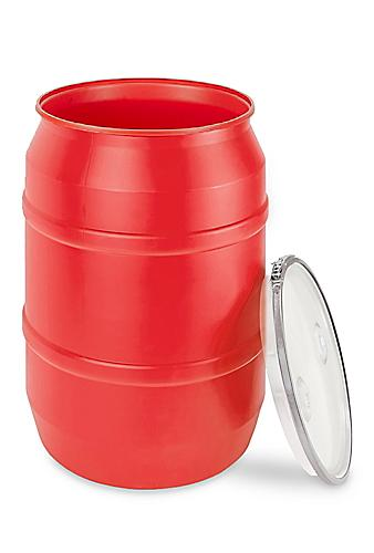 Red Plastic Drums