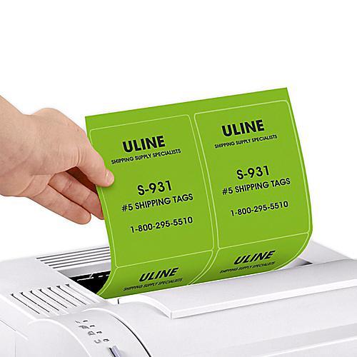 Uline Fluorescent Laser Labels