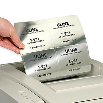 Uline Foil Laser Labels